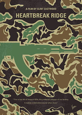Classic Marine Art Digital Art - No747 My Heartbreak Ridge Minimal Movie Poster by Chungkong Art