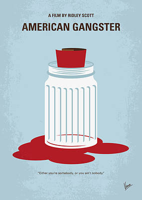 Bangkok Digital Art - No748 My American Gangster Minimal Movie Poster by Chungkong Art