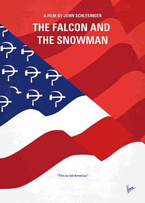 Soviet Digital Art - No749 My The Falcon And The Snowman Minimal Movie Poster by Chungkong Art
