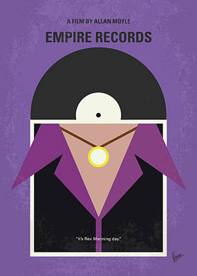 Print featuring the digital art No750 My Empire Records Minimal Movie Poster by Chungkong Art