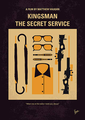 Spy Digital Art - No758 My Kingsman Minimal Movie Poster by Chungkong Art