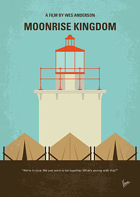 No760 My Moonrise Kingdom Minimal Movie Poster Art Print