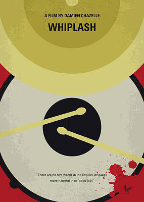 Band Digital Art - No761 My Whiplash Minimal Movie Poster by Chungkong Art