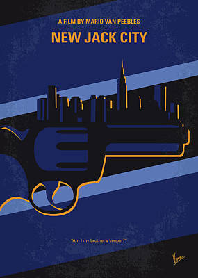 Police Art Digital Art - No762 My New Jack City Minimal Movie Poster by Chungkong Art
