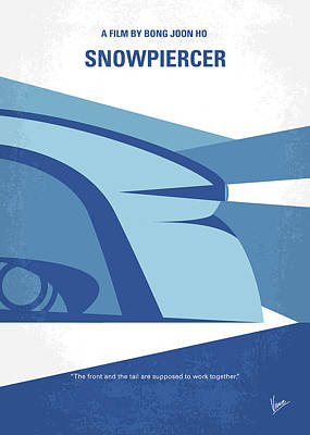 Ark Digital Art - No767 My Snowpiercer Minimal Movie Poster by Chungkong Art