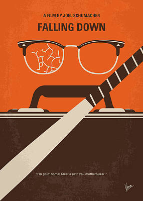 No768 My Falling Down Minimal Movie Poster Art Print by Chungkong Art
