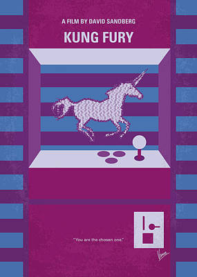 Unicorn Digital Art - No770 My Kung Fury Minimal Movie Poster by Chungkong Art