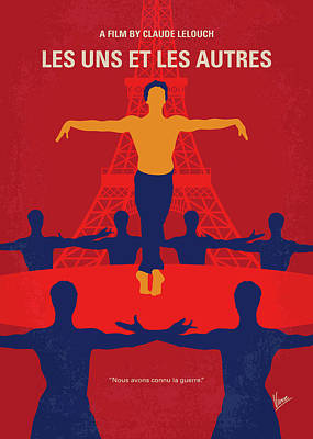 Crosses Digital Art - No771 My Les Uns Et Les Autres Minimal Movie Poster by Chungkong Art