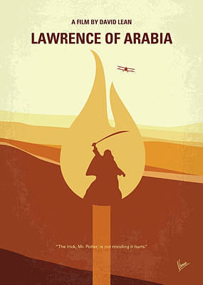 Print featuring the digital art No772 My Lawrence Of Arabia Minimal Movie Poster by Chungkong Art