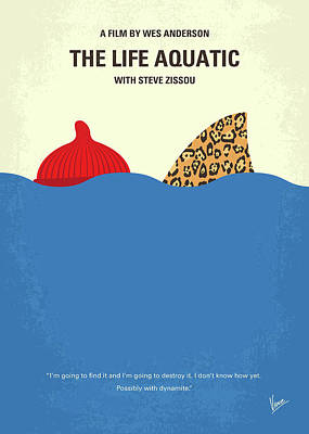 Wilson Digital Art - No774 My The Life Aquatic With Steve Zissou Minimal Movie Poster by Chungkong Art
