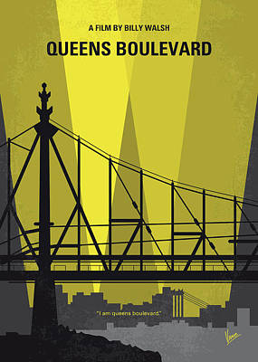 No776 My Queens Boulevard Minimal Movie Poster Art Print by Chungkong Art
