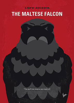 No780 My The Maltese Falcon Minimal Movie Poster Art Print