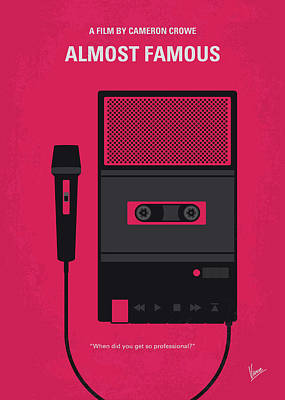 No781 My Almost Famous Minimal Movie Poster Art Print
