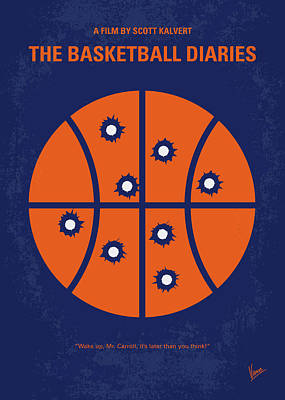 New York Digital Art - No782 My The Basketball Diaries Minimal Movie Poster by Chungkong Art