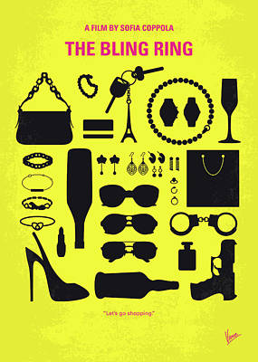 The Houses Digital Art - No784 My The Bling Ring Minimal Movie Poster by Chungkong Art
