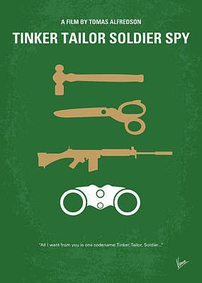 Spy Digital Art - No787 My Tinker Tailor Soldier Spy Minimal Movie Poster by Chungkong Art