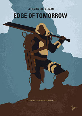 War Hero Digital Art - No790 My Edge Of Tomorrow Minimal Movie Poster by Chungkong Art