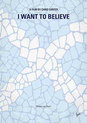 X-files Digital Art - No792 My I Want To Believe Minimal Movie Poster by Chungkong Art