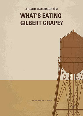 No795 My Whats Eating Gilbert Grape Minimal Movie Poster Art Print by Chungkong Art