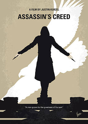 Assassin Digital Art - No798 My Assassins Creed Minimal Movie Poster by Chungkong Art