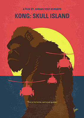 No799 My Skull Island Minimal Movie Poster Art Print by Chungkong Art