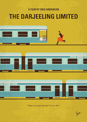 Wilson Digital Art - No800 My The Darjeeling Limited Minimal Movie Poster by Chungkong Art