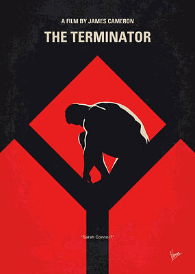 Terminator Digital Art - No802-1 My The Terminator 1 Minimal Movie Poster by Chungkong Art