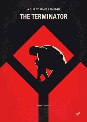 Syfy Digital Art - No802-1 My The Terminator 1 Minimal Movie Poster by Chungkong Art