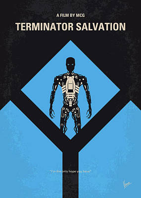 No802-4 My The Terminator 4 Minimal Movie Poster Art Print by Chungkong Art