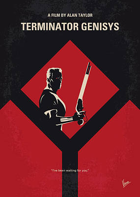 Terminator Digital Art - No802-5 My The Terminator 5 Minimal Movie Poster by Chungkong Art