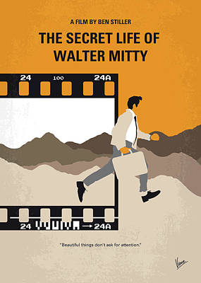 Dating Digital Art - No806 My The Secret Life Of Walter Mitty Minimal Movie Poster by Chungkong Art
