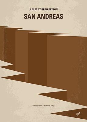 No810 My San Andreas Minimal Movie Poster Art Print