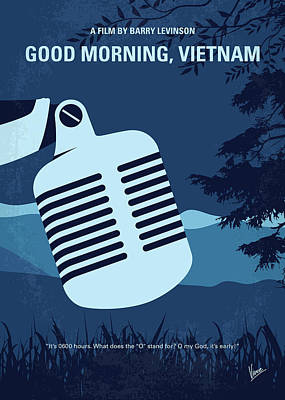 Robin Digital Art - No811 My Good Morning Vietnam Minimal Movie Poster by Chungkong Art