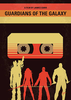 Criminals Digital Art - No812 My Guardians Of The Galaxy Minimal Movie Poster by Chungkong Art
