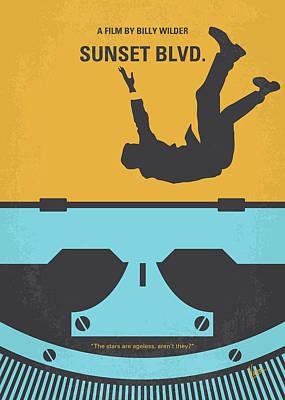 No813 My Sunset Blvd Minimal Movie Poster Art Print