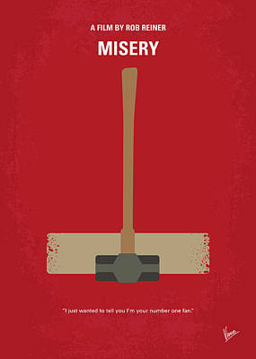 Novelist Digital Art - No814 My Misery Minimal Movie Poster by Chungkong Art