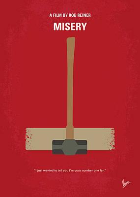 No814 My Misery Minimal Movie Poster Art Print