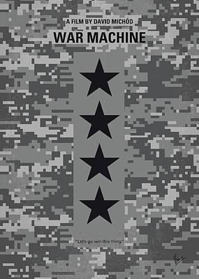 No817 My War Machine Minimal Movie Poster Art Print
