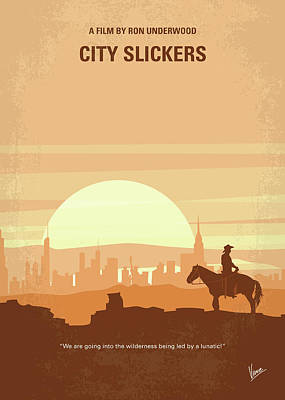 Cow Digital Art - No821 My City Slickers Minimal Movie Poster by Chungkong Art