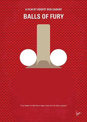 London Tube Digital Art - No822 My Balls Of Fury Minimal Movie Poster by Chungkong Art