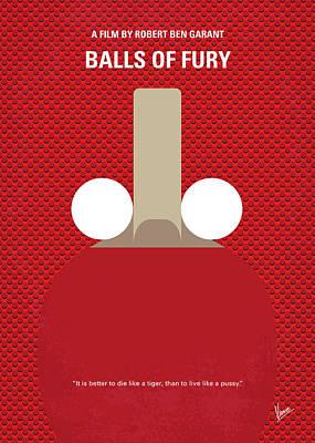 Fury Digital Art - No822 My Balls Of Fury Minimal Movie Poster by Chungkong Art