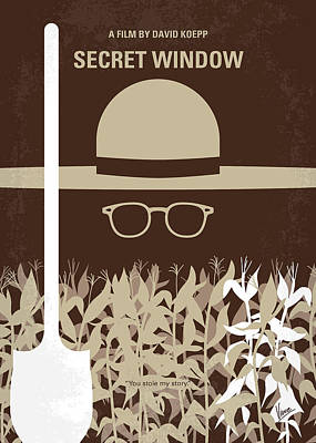 No830 My Secret Window Minimal Movie Poster Art Print