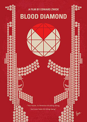 Digital Art - No833 My Blood Diamond Minimal Movie Poster by Chungkong Art