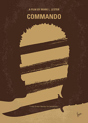 Special Force Digital Art - No834 My Commando Minimal Movie Poster by Chungkong Art