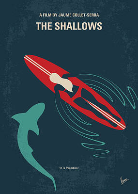 Digital Art - No836 My The Shallows Minimal Movie Poster by Chungkong Art