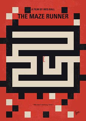 Maze Art Digital Art - No837 My The Maze Runner Minimal Movie Poster by Chungkong Art