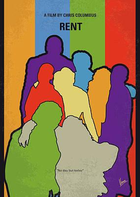 East Wall Art - Digital Art - No842 My Rent Minimal Movie Poster by Chungkong Art