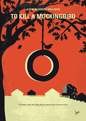 No844 My To Kill A Mockingbird Minimal Movie Poster Art Print