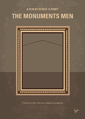 No845 My The Monuments Men Minimal Movie Poster Art Print