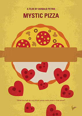 Parlors Digital Art - No846 My Mystic Pizza Minimal Movie Poster by Chungkong Art